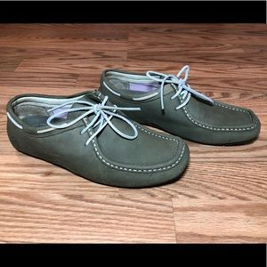 Sperry Top Sider Women's 9 Green Oxfords